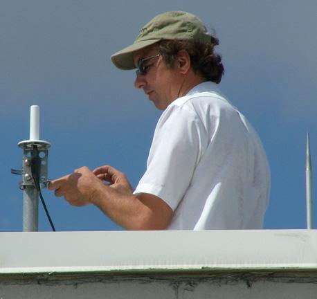 RF Technician Mark Lavallee